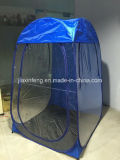 Spray-bräunendes Zelt oben knallen