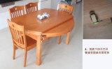 Mesa de jantar de madeira contínua (M-X2155)