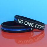 Qualitäts-dünne blaue Zeile SilikonWristband