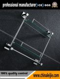Mensola di vetro del doppio del hardware della stanza da bagno di disegno moderno
