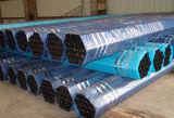 黒によってWeled塗られた鋼管はとの消火活動のための各端に溝を作った