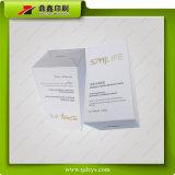 Caixa de papel de empacotamento do cosmético luxuoso com carimbo da folha de ouro