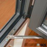 Ventana de aluminio del marco del perfil de la rotura termal de la alta calidad con el bloqueo multi K04002
