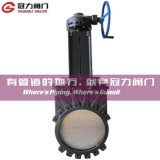 Gear Operated smussato Knife Gate Valve per Water Treatment Industry