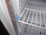 Mini refrigerador de la barra de la plata de cristal transparente de la puerta (SC68)