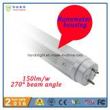 Lámpara del tubo de la alta calidad 600m m 9W T8 LED del shell de Nanomter