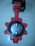 Ductile Iron Lug Type Butterfly Valve with Electronic Actuator Pn16