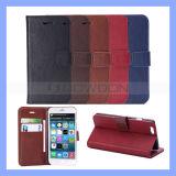 5 Farben Crazy Horse Pattern Leather Wallet Argument Cover für Apple iPhone 6 Flip Fall mit Card Holder und Stand