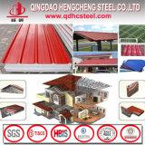 Colorer la feuille en acier ridée de toiture enduite par zinc