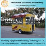Carro del alimento con el toldo modificado para requisitos particulares para la venta
