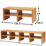 Gabinete simples material de madeira da tevê da mobília da sala de estar