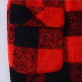in den langen Rasterfeld-Tuch-Mantel-Reversen für Kleidung der Frau