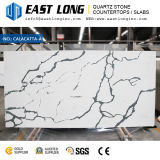 Lajes personalizadas da pedra de quartzo de Aartificial Calacatta