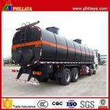 Tanker van het Bitumen van het Vervoer van de Tank van het asfalt de Semi Aanhangwagen Verwarmde