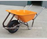 Pneumatic Wheelの強いMetal Tray Construction Wheel Barrow