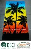 Tovagliolo 100% di spiaggia stampato reattivo del cotone del reticolo Midnight della palma