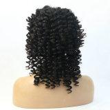 Курчавое высокого парика фронта шнурка волос Qualitysynthetic Kinky