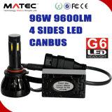 96With9600lm LED Headlighs per l'automobile con il kit massimo minimo 12V/24V 9004/9007 delle lampadine del fascio