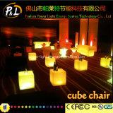 LED-Möbel-bunter Beleuchtung-Quadrat-Stuhl