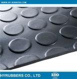 Type rond prix bon marché de bouton d'anti glissade de noir en caoutchouc de couvre-tapis