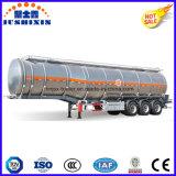 3 as 45cbm de Ruwe olie van het Aluminium/Lading/Diesel/Petro/Benzine/Brandstof/de Semi Aanhangwagen van de Tankwagen van het Nut met Silo 7