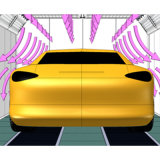 Pièce favorable à l'environnement de peinture de cabine de jet de véhicule