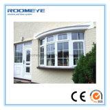 Casement triplo do PVC do branco do painel de Roomeye 3/Windows pendurado/lado articulado lateral