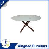 Комплект стеклянной таблицы столовой круглый обедая