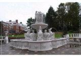 De witte Fontein van de Steen van het Graniet Marmeren Beeldhouwwerk Gesneden & de OpenluchtFontein van de Tuin