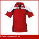 Mejores camisas 100% de te modificadas para requisitos particulares del polo del poliester de la calidad (P161)