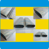 Tubos ovales inoxidables del plano de acero para la barandilla del balcón