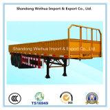 Semi-remorque de camion de mur latéral avec 2 essieux de constructeur