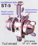 Sawey St-5 Auto Paint Spray Gun para Die Cast Casting Machine, 0.5/1.0/1.3/2.0mm Fan Shape