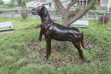 Escultura de bronce del perro de la estatua del jardín