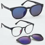 Clip neuf d'Utum d'action de vente en gros de type sur les lunettes de soleil Tj008 de mode d'Optique-Lunettes de soleil