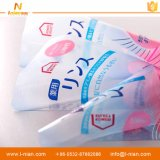 Etiqueta adhesiva transparente impermeable impresa aduana para las botellas plásticas del champú