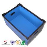 Caixa de armazenamento plástica ondulada de empacotamento da caixa da modificação da cavidade padrão dobrável dos PP da caixa