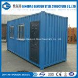 Casa prefabricada del envase de la estructura de acero del panel de emparedado