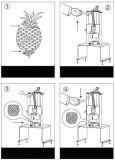 Abacaxi manual que retira o núcleo do núcleo de Peeler que remove a máquina