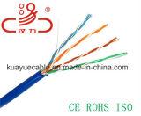 Cabo de Cat5e 4 conetor pares de cabo de LAN de Cat5e/cabo de uma comunicação