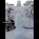 Statue blanche Main-Découpée Ms-293 de Carrare Jésus de granit de pierre de marbre de sculpture