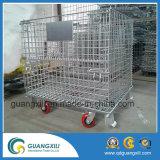 Контейнер ячеистой сети сталелитейнаяа промышленность с колесами