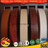キャビネットのための木製の穀物PVC端バンディングおよび家具は飾る