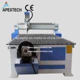 Corte de madera del ranurador del CNC y máquina de grabado con eje rotatorio