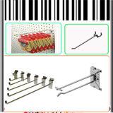 Singolo doppio amo della visualizzazione del filo di acciaio del polo per il supermercato