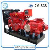 Pompa ad acqua centrifuga a più stadi orizzontale dello scolo con l'insieme del motore diesel