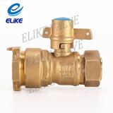 Gerades Brass Lockbale Ball Valve für Water Meter