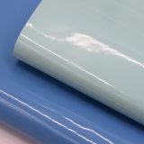 Spiegel emailliertes Oberflächenpatent-Drucken synthetisches PU-Leder für Schuh