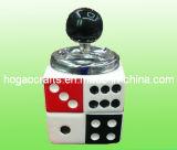 Cenicero de cerámica blanco redondo del cigarrillo de la promoción (HG007)