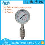 manometro a temperatura elevata di 100mm con il materiale di Monel